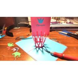 Подарок для Принцессы Корона Объёмная 3d открытка День рождения Pop-up киригами