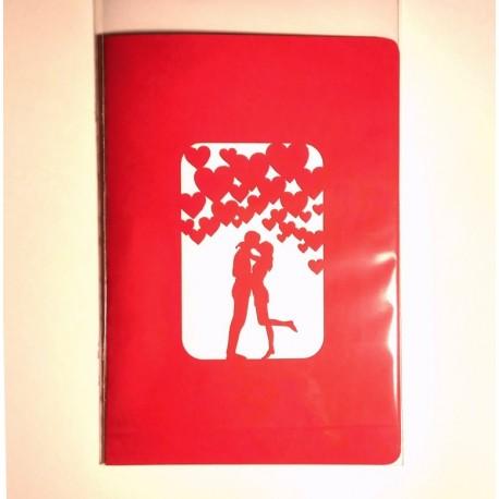 Валенткика Раскладная Объёмная 3d открытка киригами оригинальный подарок