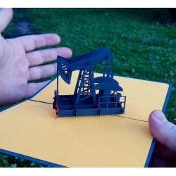 С днём нефтяной, газовой и топлевной промышленности  Объёмная 3d открытка