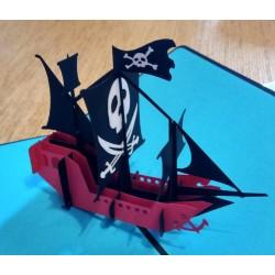Пиратский Корабль Объёмная 3d открытка pop-up черная жемчужина lego купить
