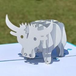 Металлический Бык. Символ 2021 года. 3D открытка