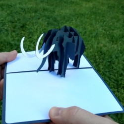 Мамонт объёмная 3d открытка в стиле pop-up