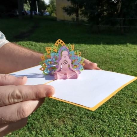 Йога Объёмная 3d открытка  купить