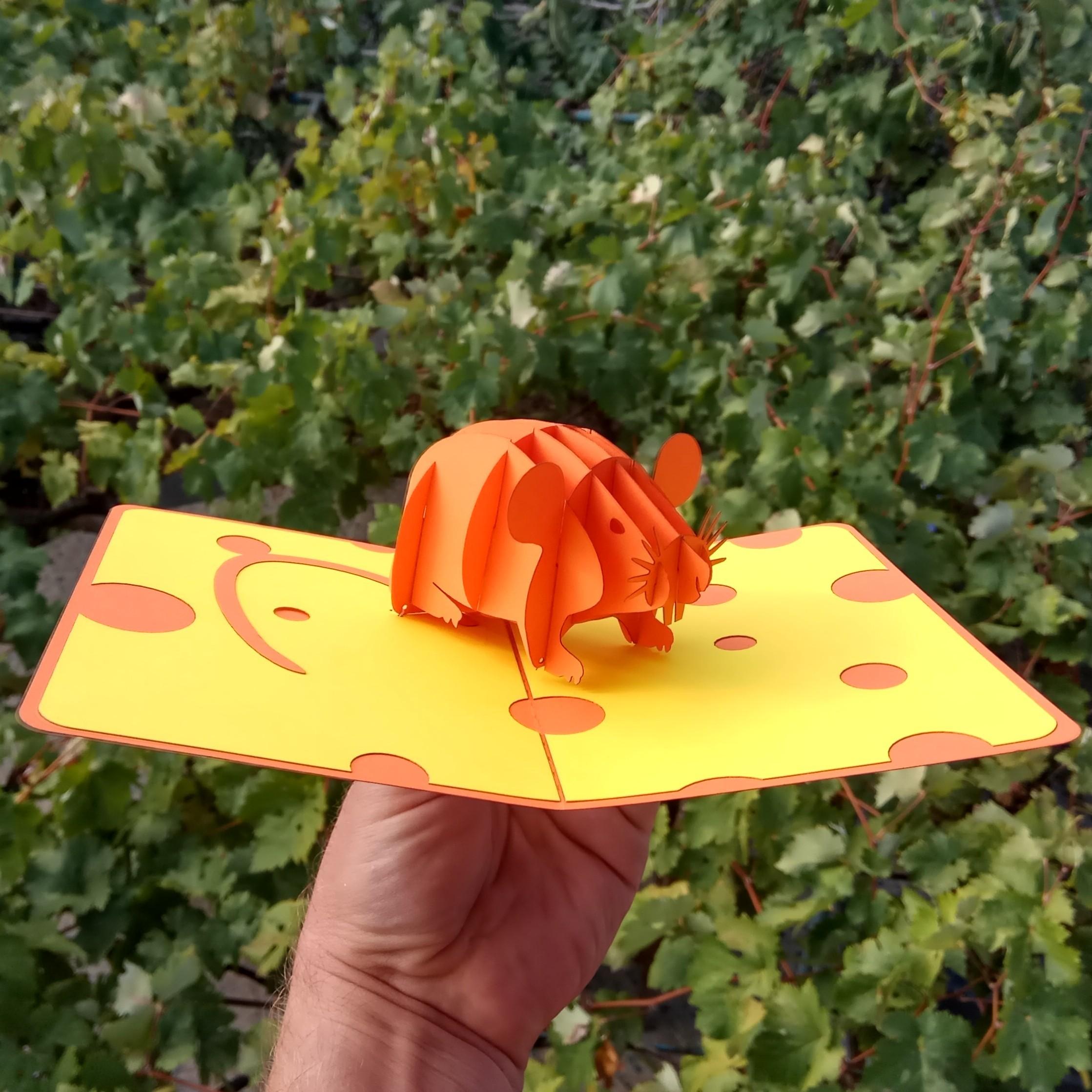 Символ 2020 года киригами pop-up купить