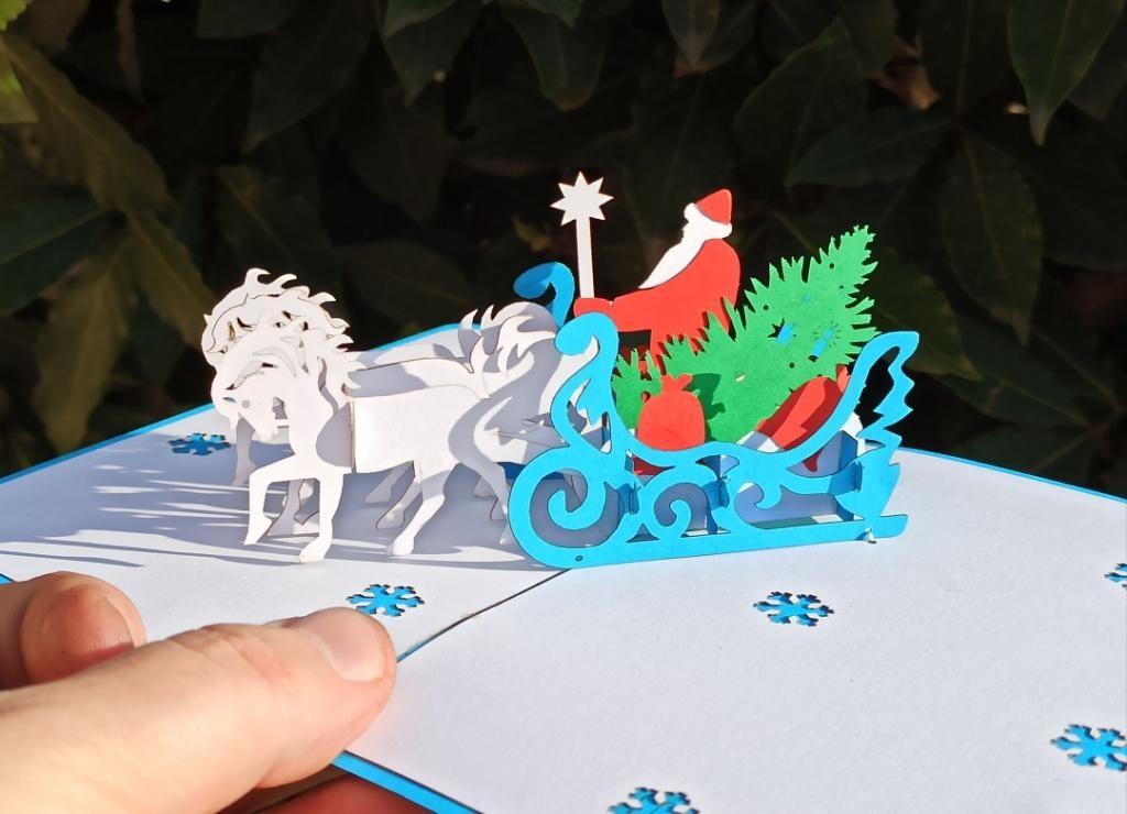 Тройка с Дедом Морозом открытка новогодний подарок для детей купить