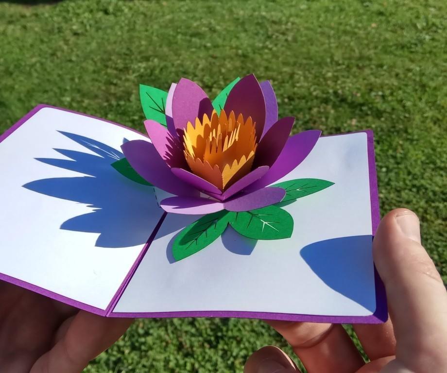 цветок открытка объёмная